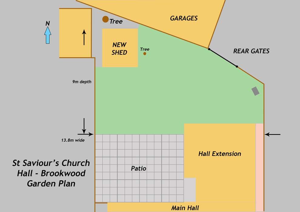 St Saviour S Church Hall Garden Plan